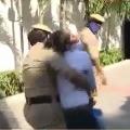 Woman creates ruckus at Telangana Bhavan in Hyderabad
