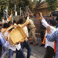 TRS MLA house stone attack 44 BJP leaders remanded