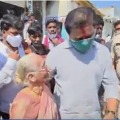 KTR pleases after an old woman admiration