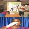 YSRCP leader Joni Kumari attemps suicide in press meet