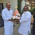 AP BJP President Somu Veerraju met actor Rajendra Prasad