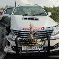 Yadadri district collector Anita Ramachandran escaped from an road accident