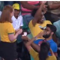 Young couple attracted all in Sydney Cricket Ground