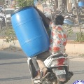 Cyberabad Traffic Police says do not carry heavy things on two wheeler