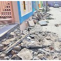 Authorities demolished the stairs of the house of TDP supporters