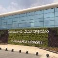 Indians who stranded Kuwait reached Gannavaram airport