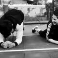 Plank challenge on the sets of Krack