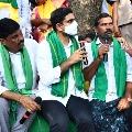 Nara Lokesh visits Prakasham district farmers