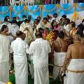 Foundation stone ceremony for Srivari Temple in Tamilnadi