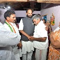 Uttam Kumar Reddy visits Gujapadugu and consoled Vaman Rao family members