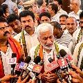 Vijayasai Reddy campaigns in Vizag for GVMC elections
