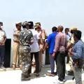 Police brought Kunta Srinu and Chiranjeevi to Sundilla Barrage for scene reconstruction