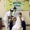 Venkaiah Naidu takes corona vaccine first dose in Chennai