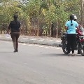 Police detained girls who collected money on road