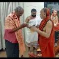 CPI Narayana met Swami Swaroopanandendra in Visakha Saharada Peetham
