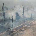 Huge fire accident in vizianagaram dist