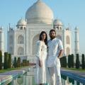 Allu Arjun Snehareddy 10th Marriage anniversary at Tajmahal