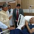 Chandrababu consoles ailing former minister Bojjala Gopalakrishna Reddy