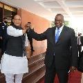 Expanding Military Engagement Rajnath Singh On US Defence Secretary Meet