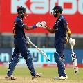 Team India posts huge total in Pune
