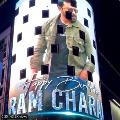Tollywood hero Ram Charan photos displayed on New York Times Square billboard