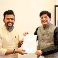 TDP MP Rammohan Naidu met Union Railway minister Piyush Goyal