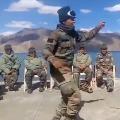 Indian Army jawans dance at the Pangong Tso lake in viral video