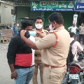 Police conduct special drive for wearing masks in AP
