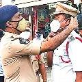SP Ammireddy fined to Traffic CI Mallikarjuna Rao for not wearing mask