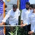 jagan lays foundation stone to build retaining wall
