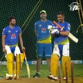 MS Dhoni and Suresh Raina Sweat It Out In The Nets