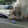 APSRTC Bus engine catches fire in Kakinada