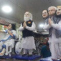 Modi and Mamata idols made off sweets in a Howrah sweet shop
