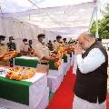 Amit Shah paid tributes martyred CRPF jawans in Jagadalpur
