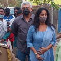 Hero Ajith gets angry on a youth while casting his vote