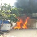 ATM machines caught in fire
