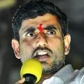 Nobody can scare chandrababunaidu by throwing stones says nara lokesh