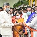 Chandrababu participates in Ugadi function