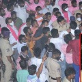 Tensions prevailed in Nagarjuna sagars anumula as congress and trs workers clash