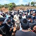 Chandrababu visits sand mining reach in Tirupati lok sabha constituency