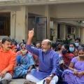 BJP and Janasena cadre protests at RDO office in Tirupati