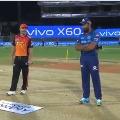 Sunrisers lost toss against Mumbai Indians
