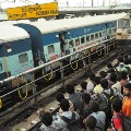 Secunderabad Railway Station is filled with passengers