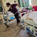Corona positive Mijoram minister cleans hospital floor