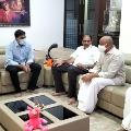 YSRCP leaders visits Vellampalli house