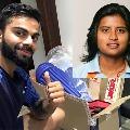 Virat Kohli helps former woman cricketer