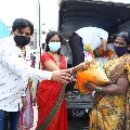 Tollywood comedian Ali and his wife distributes essentials to women production union members