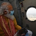 PM Modi aerial survey on cyclone affected areas