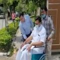 Raghurama Raju goes to Rajnath residence in wheelchair