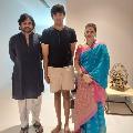 Pawan and Akira with music teacher
